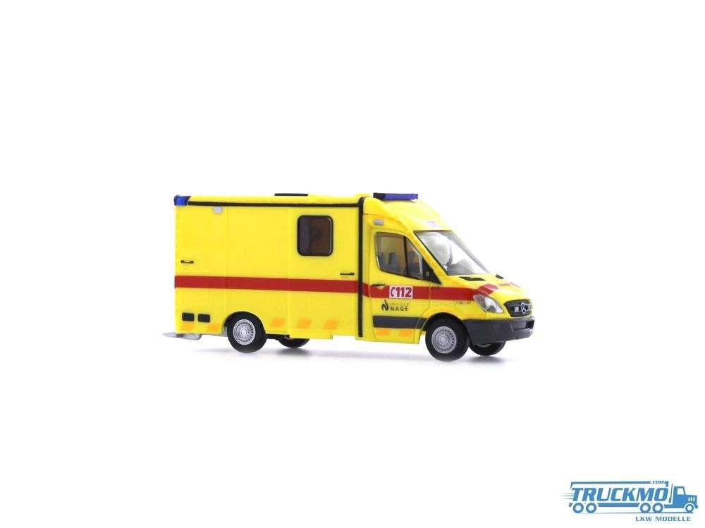Rietze Ambulance Mercedes Benz Strobel RTW 61795