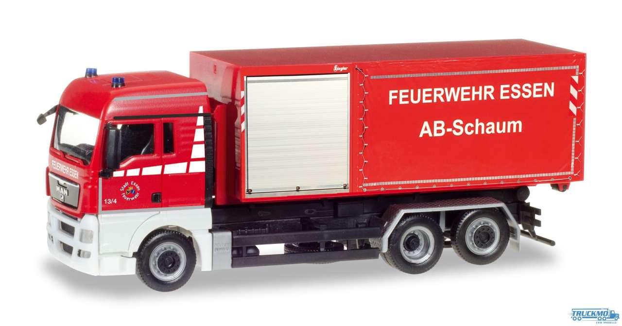 Herpa Feuerwehr Essen MAN TGX XLX Abrollcontainer-LKW 093279