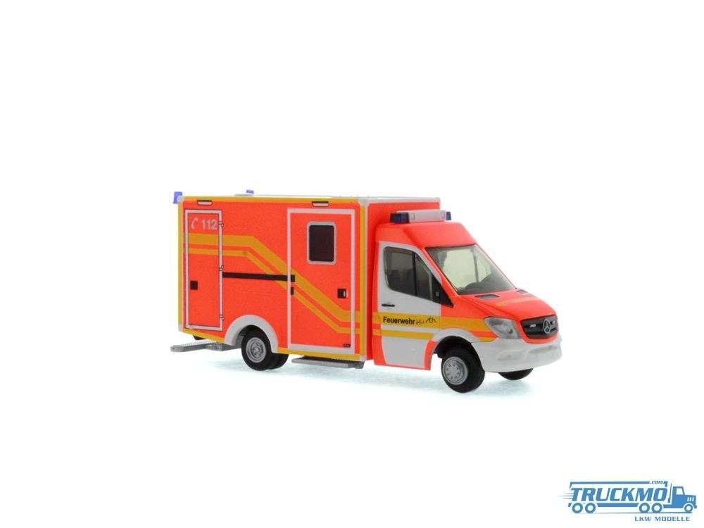 Rietze Feuerwehr Hürth WAS RTW Facelift 61725