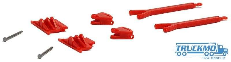 Herpa Zug- und Schubeinrichtung (rot) 2 Stück 692518