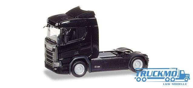 Herpa Scania CR 20 ND Zugmaschine schwarz 307666