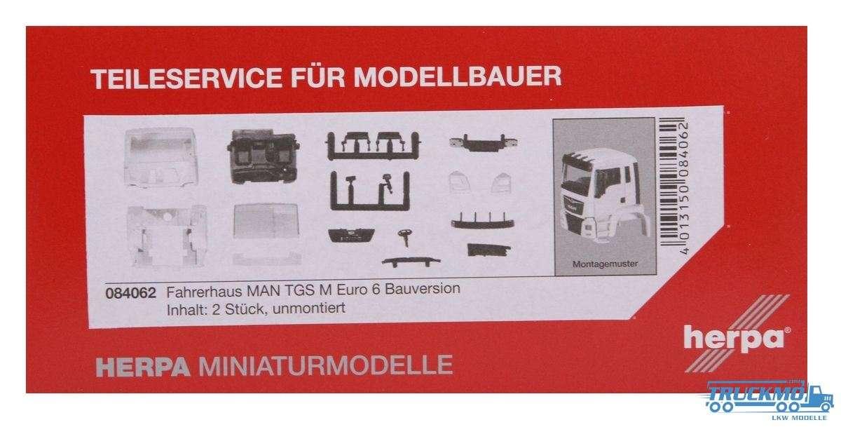 Herpa Fahrerhaus LKW MAN TGS M Euro 6 Bauversion Inhalt: 2 Stk. Modell