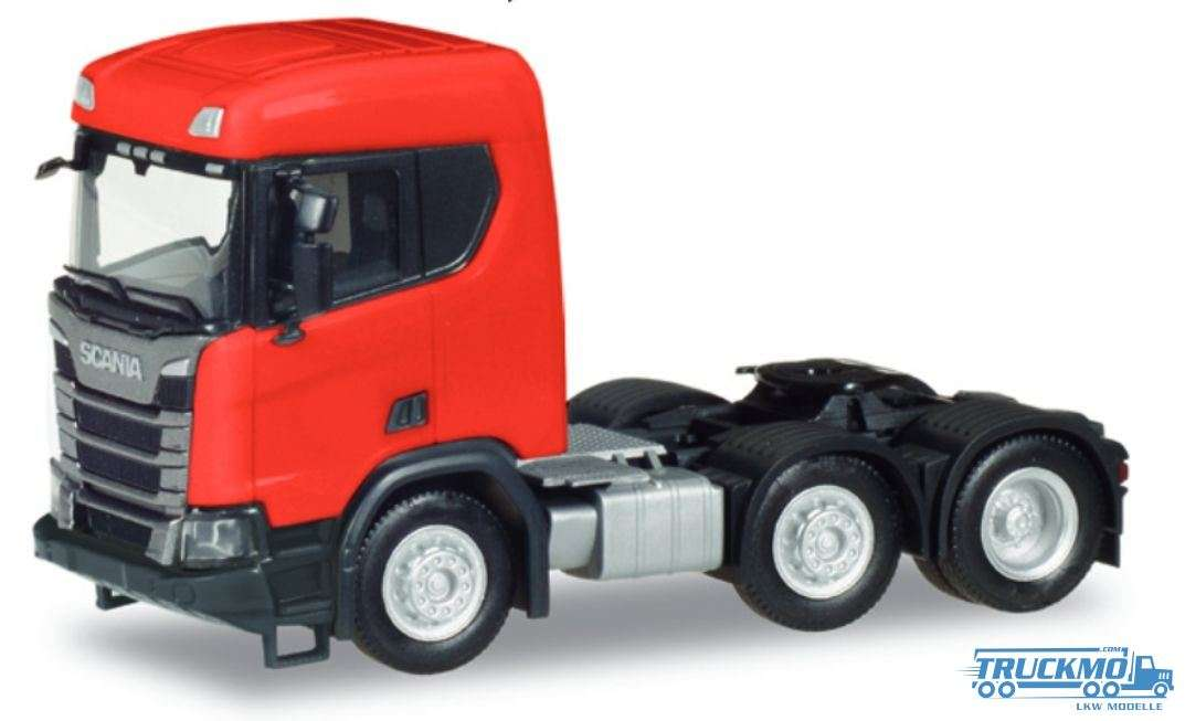 Herpa Scania CR XT ND Bau Zugmaschine 3 Achs rot 309035