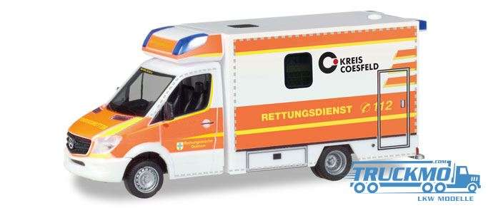 Herpa Rettungsdienst Dülmen Mercedes-Benz Sprinter Fahrtec RTW 093675