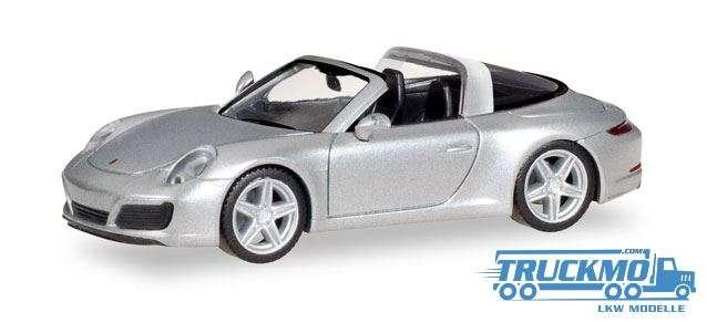 Herpa Porsche 911 Targa 4S rhodiumsilbermetallic 038904