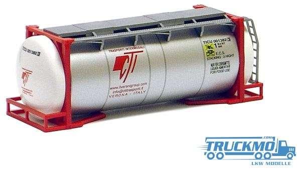 AWM CTI Trasporti 20ft. van Hool Tankcontainer silber überlang 491122