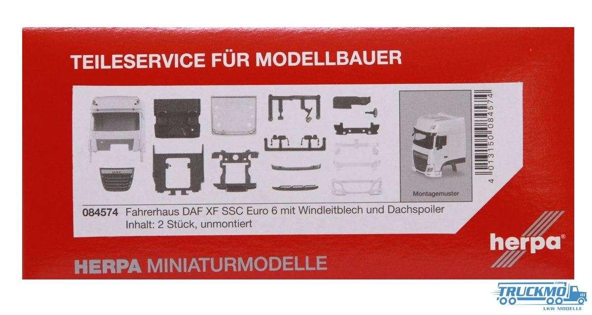 Herpa Fahrerhaus DAF XF SSC Euro 6 mit Windleitblech und Dachspoiler 084574