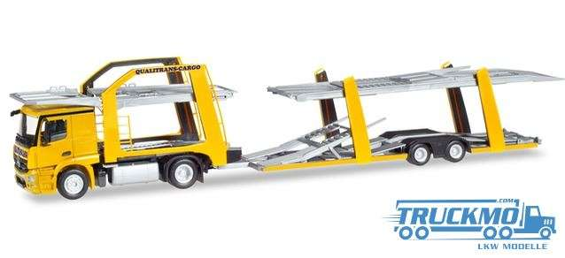 Herpa Qualitrans Cargo Mercedes Benz Actros Eurolohr Autotransporter 309790