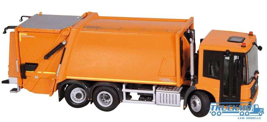 NZG Mercedes Benz Econic Faun Variopress Müllpresse orange 908/65