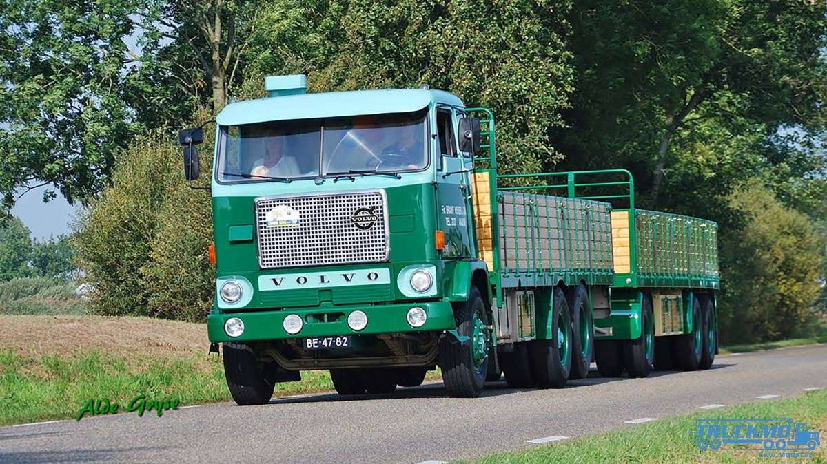 Beste WSI Brant Visser Volvo F88 combi 6 axle with resin boxes 01-2736 DM-87