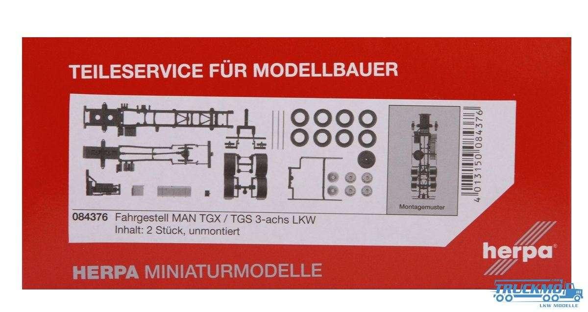 Herpa Fahrgestell MAN TGX / TGS 3-achs Inhalt: 2 Stück LKW Modelle