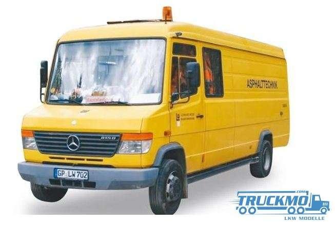 Herpa Weiss Leonhard Mercedes-Benz Vario Asphalttechnik 925013