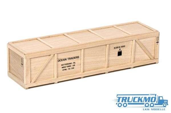 WSI Ocean Traders Holzkiste L 24 cm 12-1019