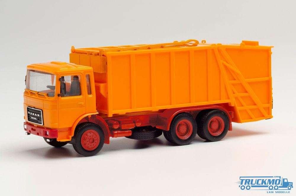 Herpa MiniKit Roman Diesel Pressmüllwagen Orange 013833