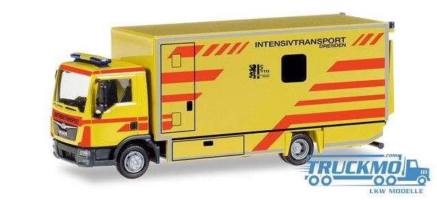 Herpa Intensivtransport Dresden MAN TGL Koffer-LKW 093347