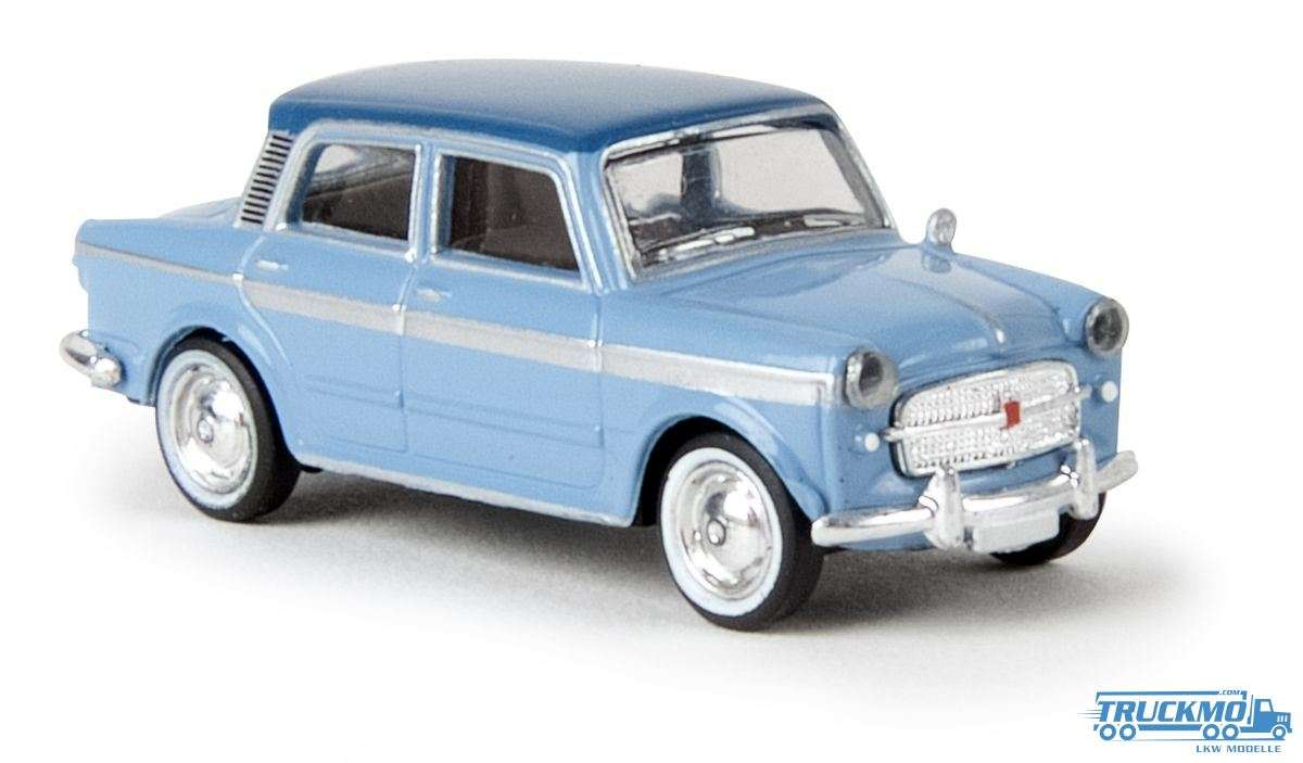 Brekina Grand Luce Fiat 1200 hell- / dunkelblau Drummer 22208
