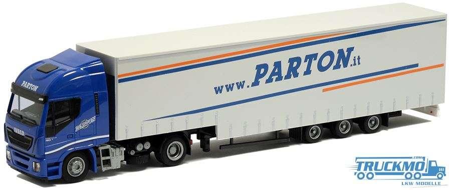 AWM Parton Iveco Stralis HiWay Jumbo-Planenauflieger 75447