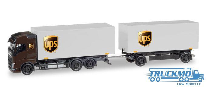 Herpa Ups Volvo Fh Gl Wechselkoffer Hängerzug 308823 Truckmo Truck Models Your Spezialist