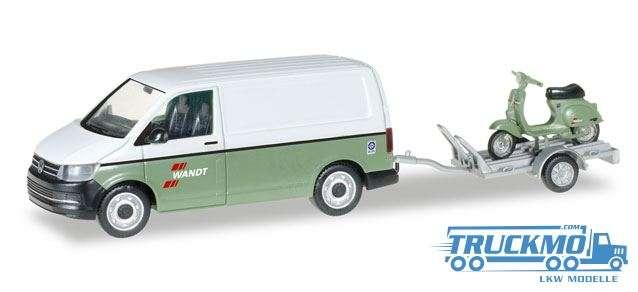 Herpa Spedition Wandt VW T6 Kasten mit Anhänger und Vespa 092760