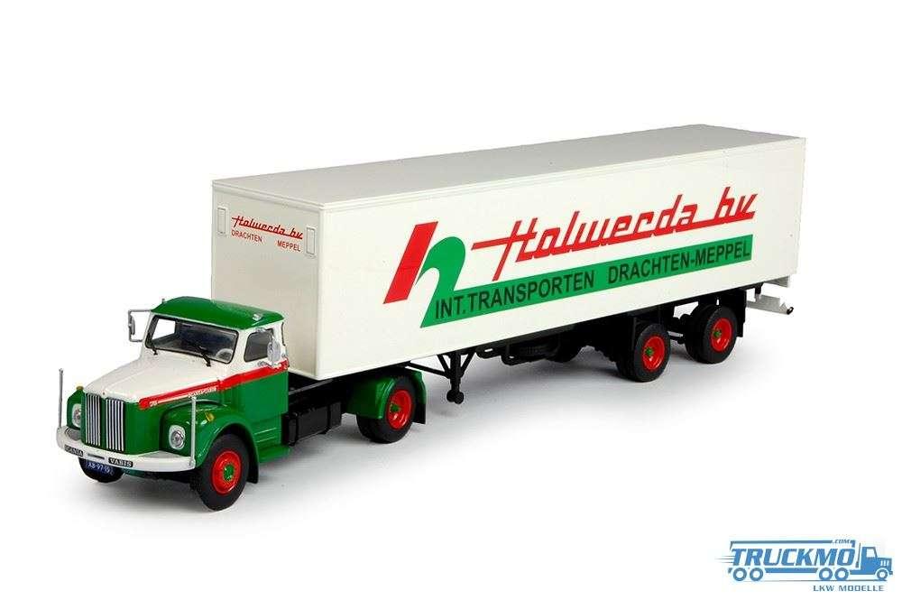 Tekno Holwerda LKW Modell Scania Vabis L76 mit Klassik Kastenauflieger 69330