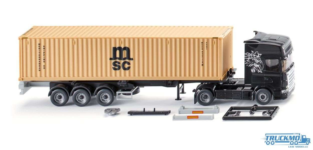 Wiking MSC Scania NG Containersattelzug 052349