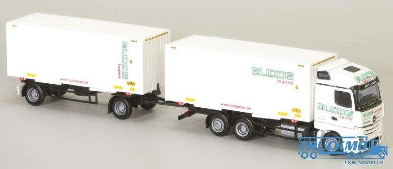 AWM Budde LKW Modell Mercedes Benz Actros2 Streamsp. Container Hängerzug 75090