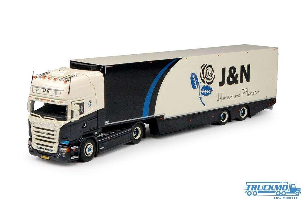 Tekno J & N Blumen Scania R-Streamline mit 2 Achse Gans Hals Tankauflieger 70346