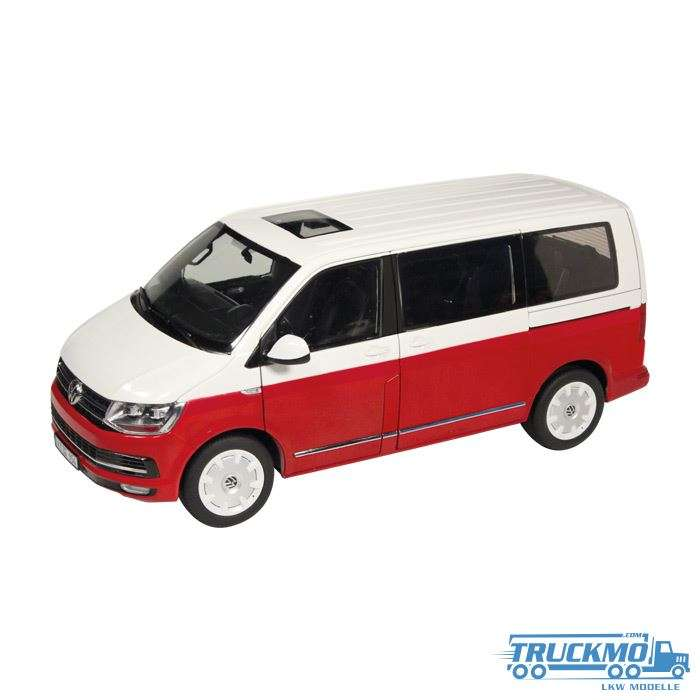 NZG VW Volkswagen T6 Multivan Generation Six Rot Weiss 1:18 9541/10