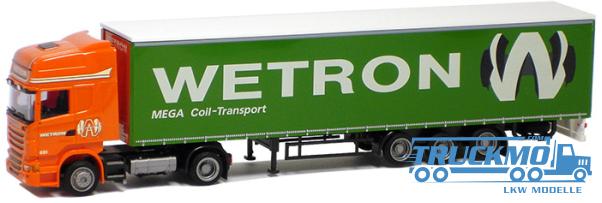 AWM Wetron Scania 09 Topl. Aerop. Mega Gardinenplanensattelzug LKW Modelle