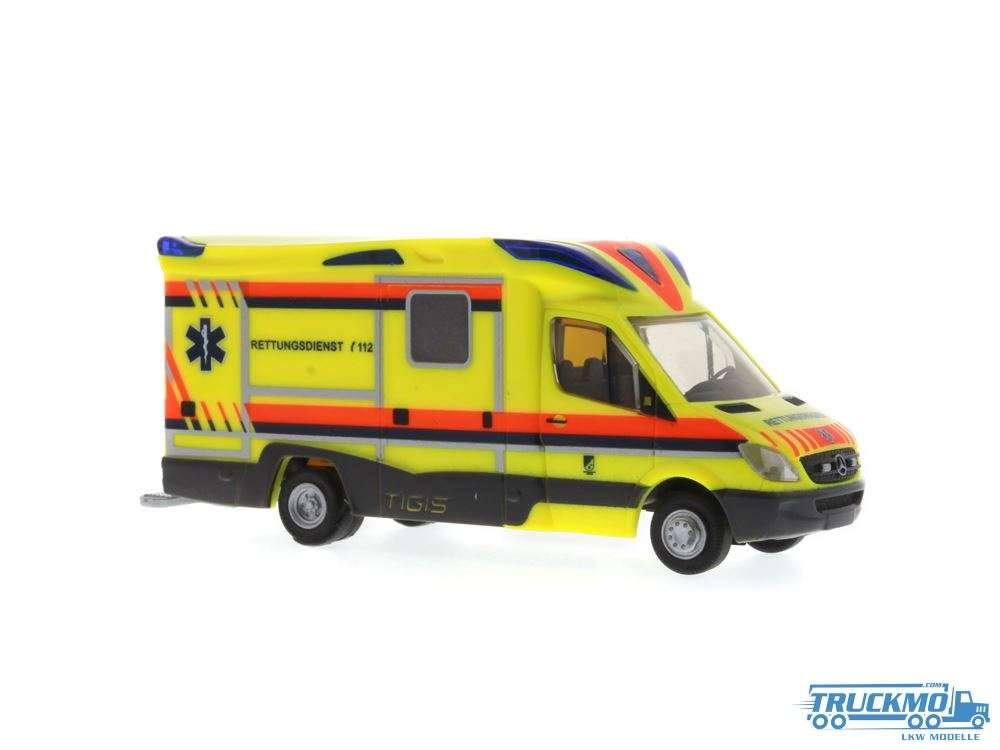 Rietze Tigis Ergo Krankentransport Ost/West Mercedes Benz Ambulanz Mobile 68628