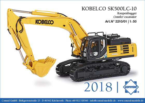 Conrad Kobelco SK500LC-10 Raupenbagger 2210/01