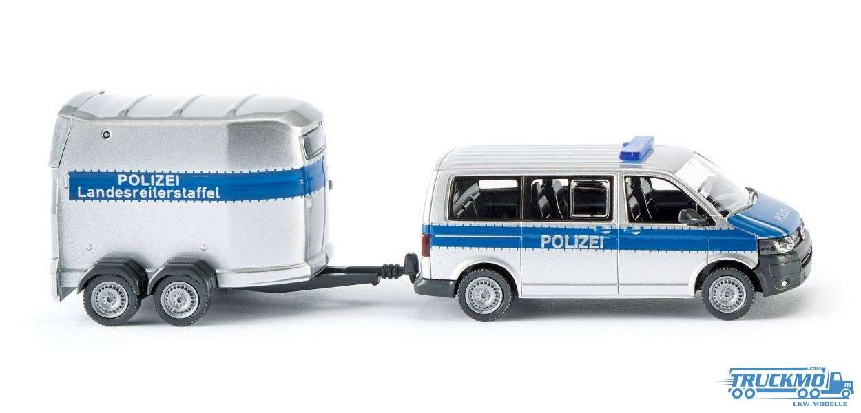Wiking Polizei Volkswagen T5 GP Multivan Horse Trailer 030807