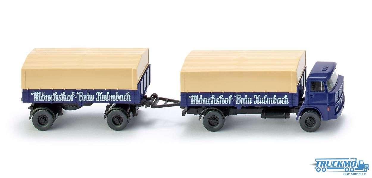 Wiking Mönchshof Bräu Kulmbach Henschel Pritschenhängerzug 041701
