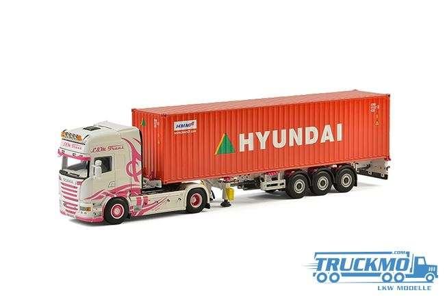 WSI L&M Trans Scania R Streamline Topline Container Auflieger 01-2309