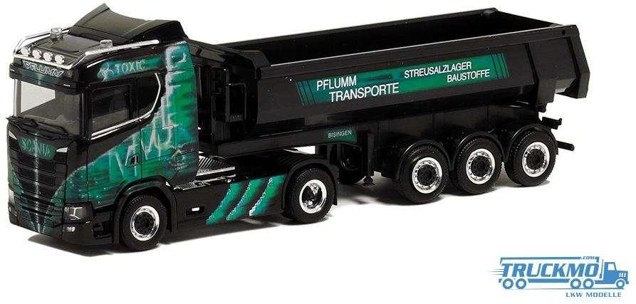 Herpa Pflumm Toxic Scania CS ND Rundmulden-Sattelzug 936774