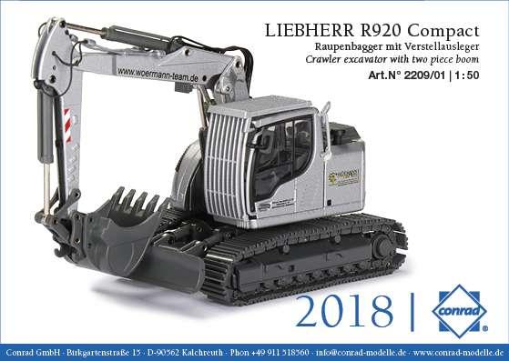 Conrad WÖRMANN LIEBHERR R920 Compact Raupenbagger mit Verstellausleger 2209/01