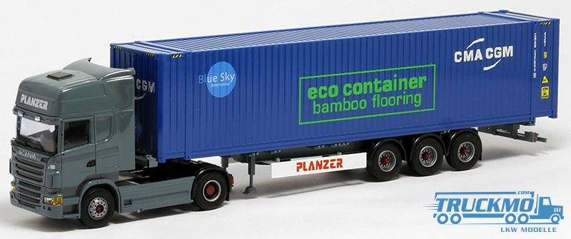 AWM Planzer CMA CGM eco container Scania R Topline 45ft HighCube Container Auflieger 401718
