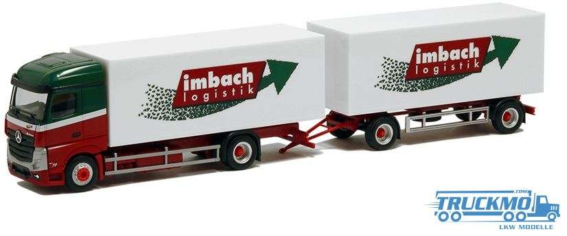 Herpa Imbach Logistik Mercedes-Benz Actros Streamspace Koffer-Hängerzug 929691