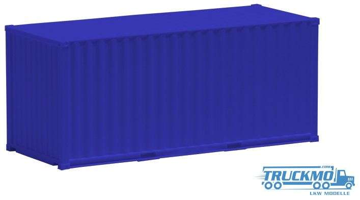 AWM 20ft. Container gerippt blau 490031