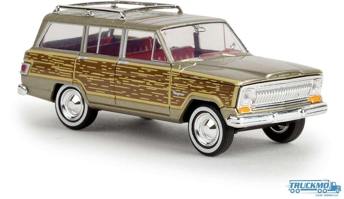 Brekina woody Jeep Wagoneer gold 19856