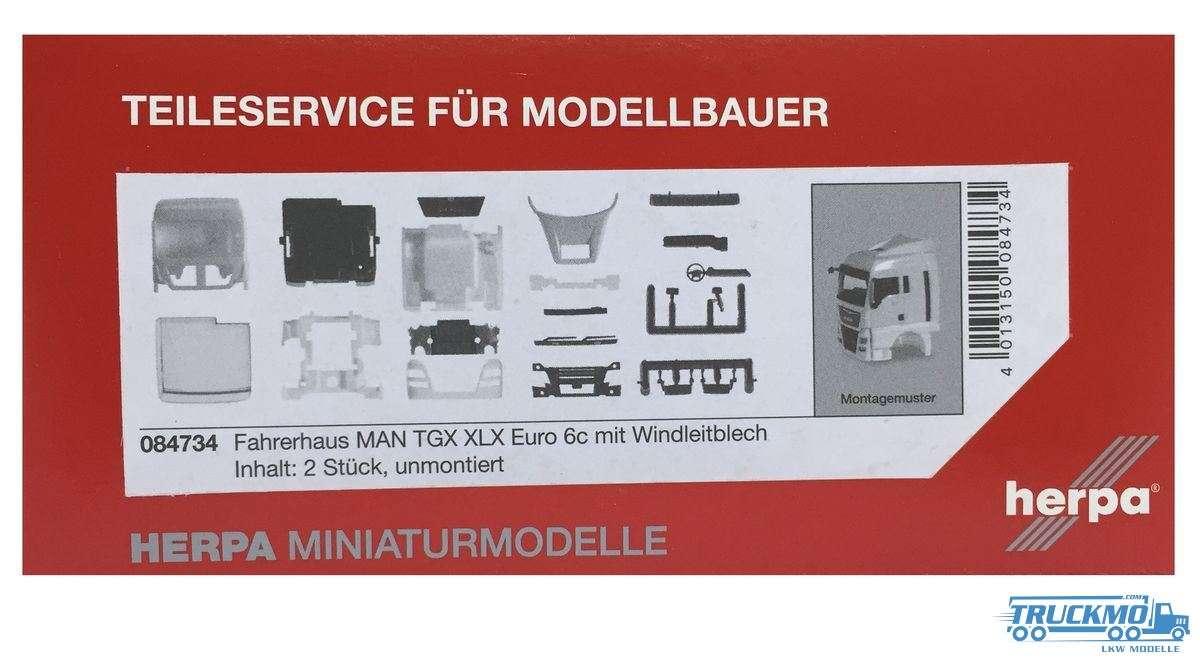 Herpa Fahrerhaus MAN TGX XLX Euro 6c mit Windleitblech Inhalt: 2 Stück 084734