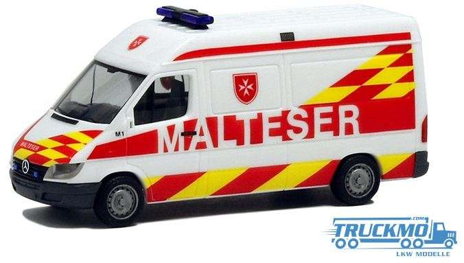 Herpa Malteser Wien Mercedes Benz Sprinter Halbbus 927703