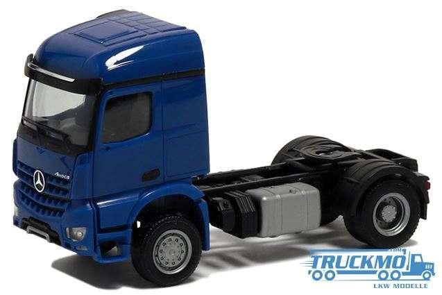 Herpa Mercedes Benz Arocs 2 Achs blau 560619