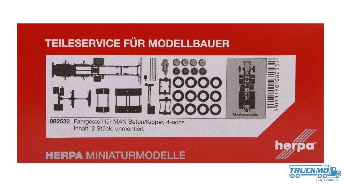 Herpa MAN LKW-Fahrgestell 4-achs für Kipper Inhalt: 2 Stück LKW-Modell