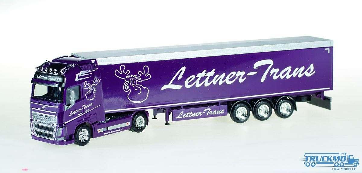 Herpa Lettner-Trans Volvo FH16 Globetrotter XL Schubboden-Sattelzug 924481