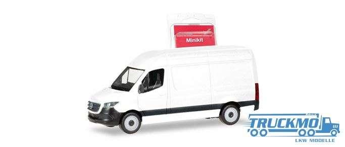 Herpa MiniKit: Mercedes-Benz Sprinter 18 Kasten Hochdach weiß 013475