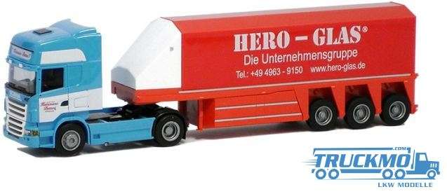 AWM Katzmann Hero Scania 09 Topl. Aerop. Innenlader Sattelzug LKW-Modell