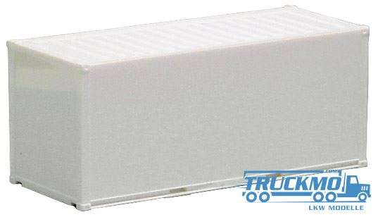 AWM Container smooth wall white 20ft. 490005