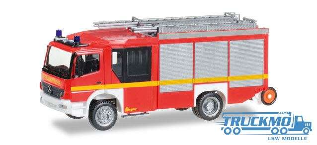 Herpa Feuerwehr Mercedes-Benz Atego Ziegler Z-Cab HLF 20 leuchtrot 091060-002