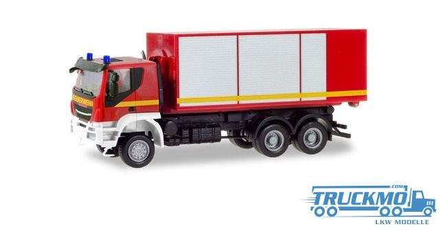 Herpa Feuerwehr Iveco Trakker Wechsellader-LKW 094610